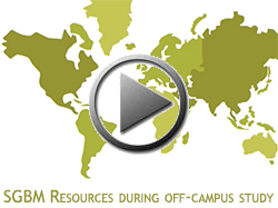 Video presentation about SGBM resources for study abroad